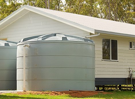 Rainwater tanks and pumps